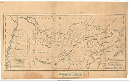 Historical Map of Tennessee