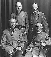 Pension Board members   Standing:  Gen. John P. Hickman,  Col.  Harry Rene Lee   Sitting:  Gen.  R. C. Crouch,  Col.  N. L. McKay