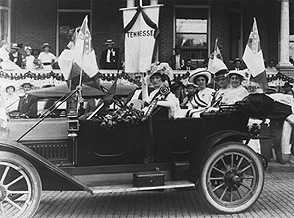 Confederate widows in a parade