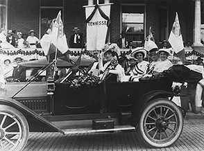 Confederate widows in a parade